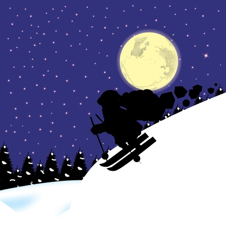 Beautiful winter backdrop with santa clause and tex place