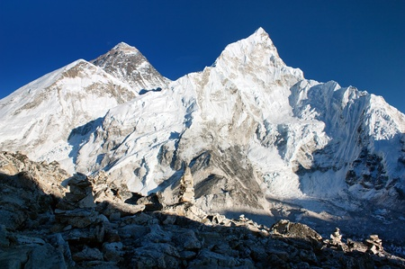 view of Everest and Nuptse from Kala Patthar Stock Photo - 11219601
