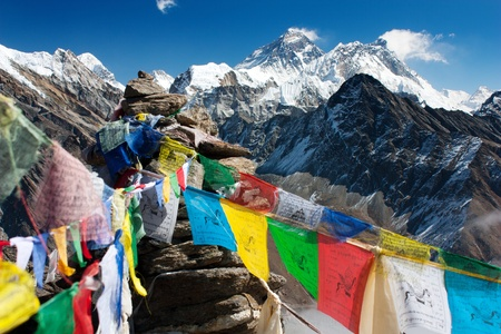 view of everest from gokyo ri  Reklamní fotografie