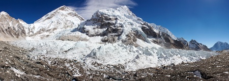 icefall: ice-fall khumbu from everest b c   Stock Photo