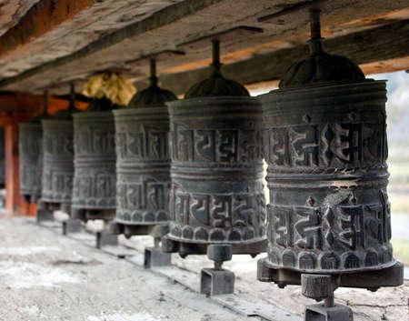 many prayer wheels