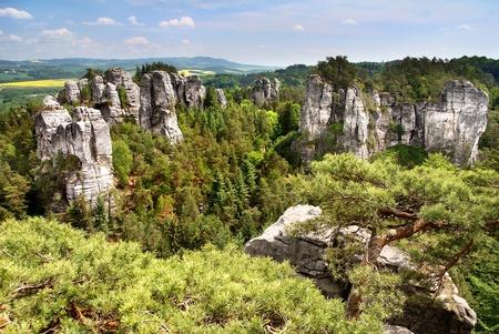 stoney point: view from cesky raj - czech or bohemian paradise - bohemia - czech republic