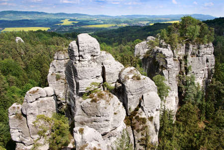 stoney point: view from cesky raj - czech or bohemian paradise - bohemia - czech republic