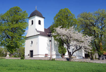 church in ruda village bohemia and moravia highlands czech republic  Stock Photo - 12741966