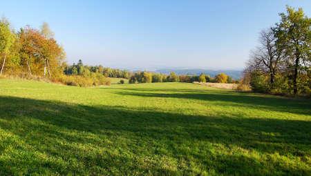 grassfield: autumny scenery  Stock Photo