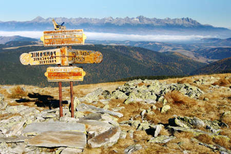 guidepost: guidepost in Tatra national park