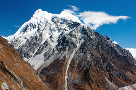 ri: langshisa ri - langtang himal - nepal  Stock Photo