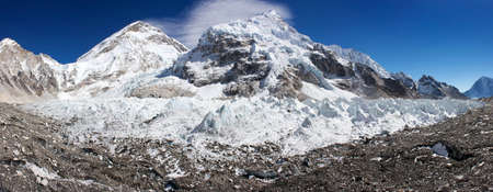icefall: ice-fall khumbu from everest  Stock Photo