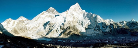 view of Everest and Nuptse from Kala Patthar Stock Photo - 12948206