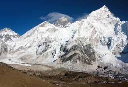 icefall: view of Everest and Nuptse from Kala Patthar