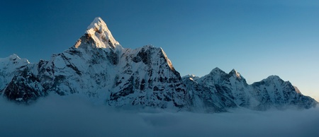 eventide: evening view of Ama Dablam