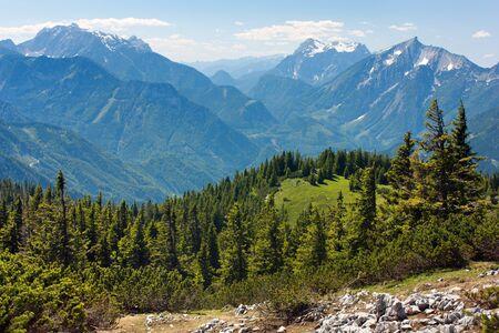 mounts: blue mountains - view from Kaltmauer to blue mounts -Hhochschwab Alpen - Austria