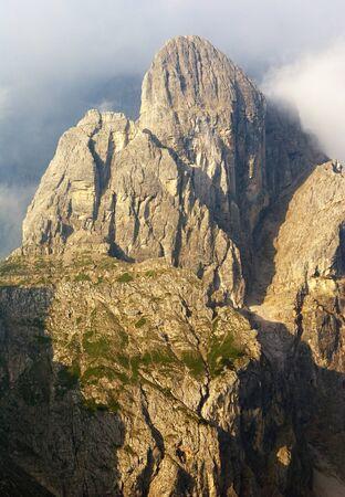 morning view from Dolomiti di Sesto or Sextener Dolomiten - Sextener Rotwand or Croda Rossa di Sesto - South Tirol - Italy Stock Photo - 15305224