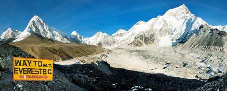 evening view of Everest and Nuptse from Kala Patthar  photo