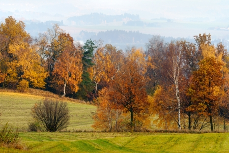 autumny scenery from Bohemian and Moravian highland - Czech Republic - Europe  Stock Photo - 15305241