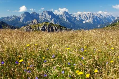 View from Karnische Alpen or Alpi Carniche - Dolomiti - Italy Stock Photo