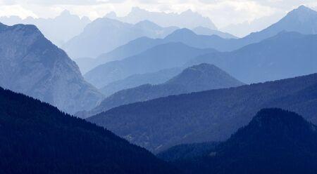 ridge of wave: blue horizons - Dolomiti Italy
