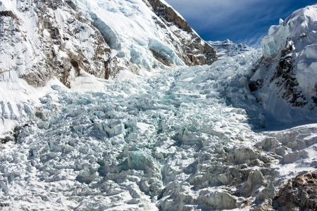 icefall: icefall khumbu - view from Everest Base Camp  Stock Photo