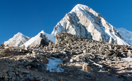 Kala Patthar view point of Mount Everest - Nepal  photo