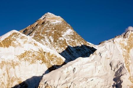 evening view of Everest from Kala Patthar - trek to Everest base camp - Nepal Stock Photo - 18654322