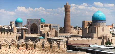 ブハラ アーク、ウズベキスタンからのパノラマ ビュー