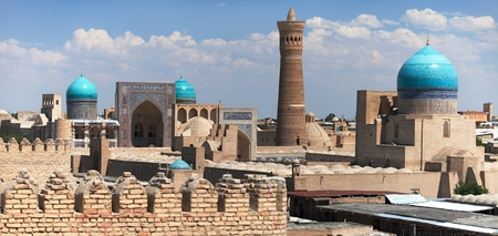 Panoramic view of bukhara from Ark, Uzbekistan photo