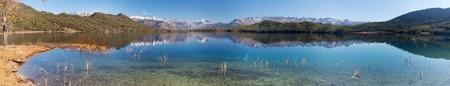 tal: panoramic view of Rara Daha or Mahendra Tal Lake in Rara trek, West Nepal