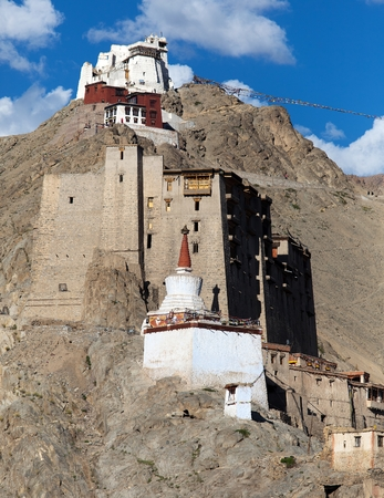 Leh Palace of Namgyal Tsemo Gompa in Leh, India  photo
