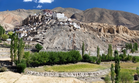 gompa: Lamayuru gompa buddhist monastery in Indus valley, India
