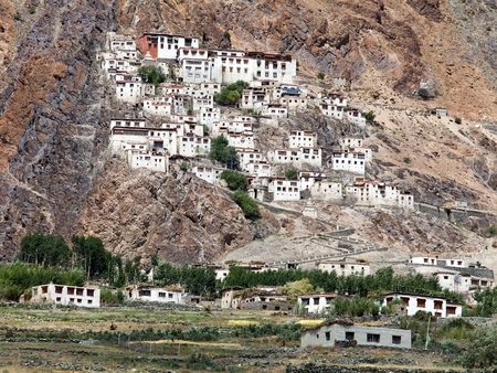 buddhist monastery in Zanskar valley, Ladakh, India  photo