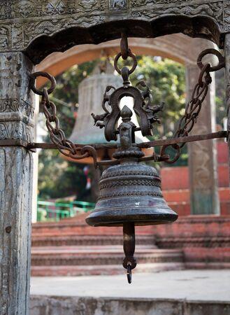 hinduist: bell in Swayambhunath stupa, Kathmandu,Nepal