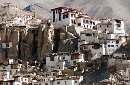 gompa: Lamayuru gompa - buddhist monastery in Indus valley - Ladakh - Jamu and Kashmir - India  Stock Photo