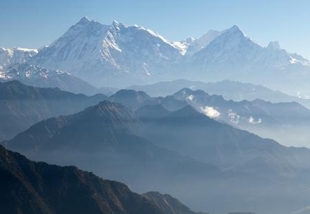 Blue horizons - view of Annapurna Himal from Jaljala pass - Nepal - Asia  photo