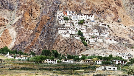 Karsha gompa - buddhist monastery in Zanskar valley - Ladakh - Jammu and Kashmir - India  photo