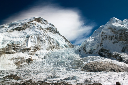 icefall: ice-fall khumbu from everest b c