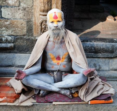 Famous painted sadhu  holy man  about Pashupatinath