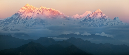 Evening view of mount Annapurna - nepal photo