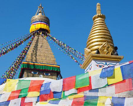 Boudhanath Stupa - Kathmandu - Nepal Stock Photo - 27594286