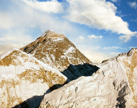 Evening view of Everest from Kala Patthar - trek to Everest base camp - Nepal photo