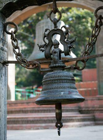 hinduist: bell in Swayambhunath stupa - Kathmandu - Nepal