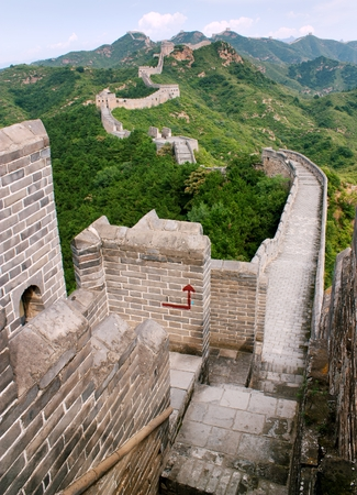 bulwark: View of Great Wall of China located in Hebei province
