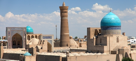 Panoramic view of bukhara from Ark - Uzbekistan photo