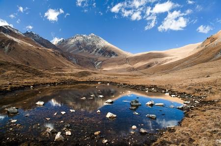guerrilla: View of Jang la pass - yasagumba trail - guerrilla trek - Western Nepal