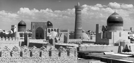 Panoramic view of bukhara from Ark - Uzbekistan photo