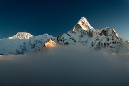 Evening view of Ama Dablam - Way to Everest Base Camp - Nepal