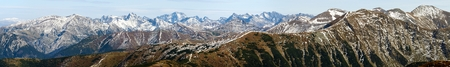 panoramatic: panoramic view of Rohace, West Tatra mountains, Slovakia, Poland