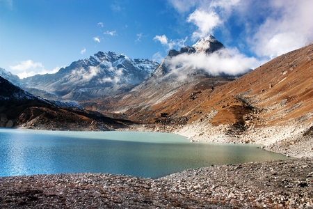 view of Tonak Tsho lake - Gokyo - Way to Cho Oyu and Everest Base Camp - Nepal photo