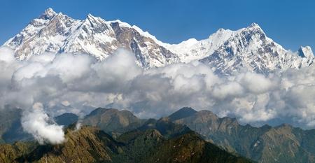 nepali: view of Annapurna Himal from Jaljala pass - Nepal - Asia