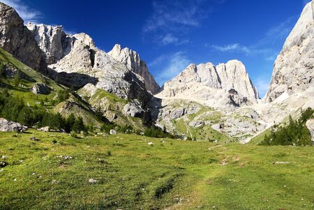 view of southern side of marmolada- top of dolomiti italy photo