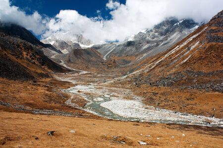 pastureland: Langtang, Nepal - Scenery near Kangja (Ganja) La pass